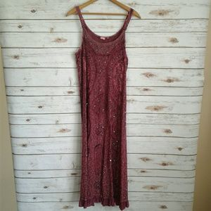 Dresses & Skirts - Gypsy Boho Cranberry Burgandy Maxi Dress